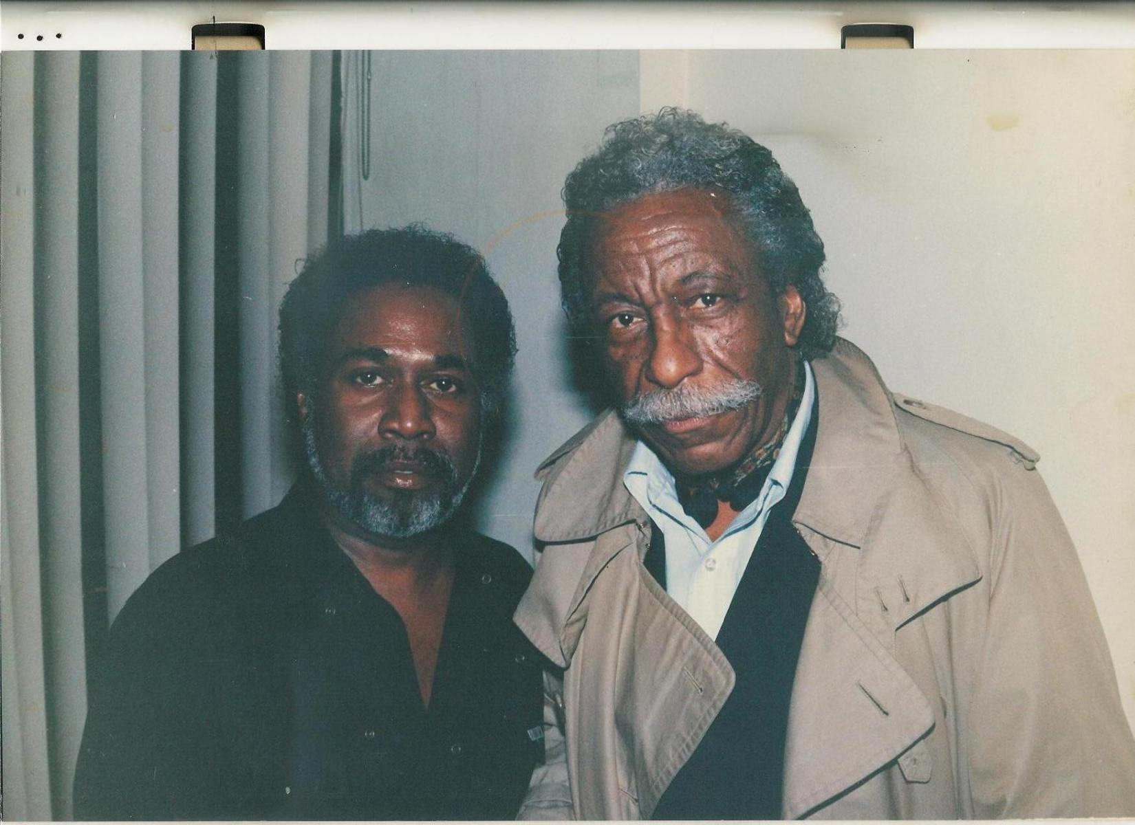 With Gordon Parks