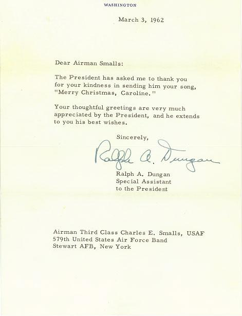 Thank You Letter from the White House 1962