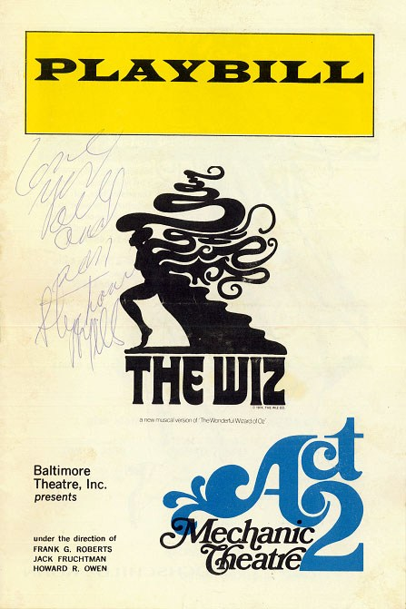 Baltimore Opening Night Playbill Signed by Stephanie Mills