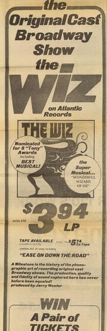 Newspaper Ad for Original Cast Recording